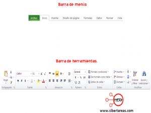 Elementos y barras principales de la pantalla de Excel 2010 0