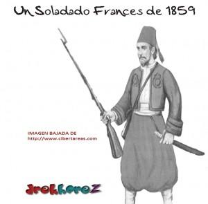 Imagen de un Soldado Frances de 1862-Batalla del 5 de Mayo 0