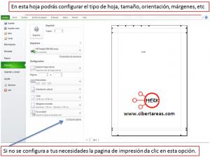 Vista preliminar, configurar página e imprimir en Excel 2010 1