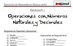 Ejercicios de Matemáticas Básicas no2-vol-1 0