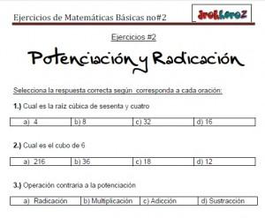 Ejercicios de Matemáticas Básicas no2-vol-1 2