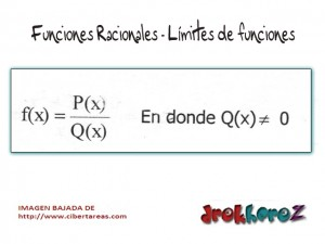 Funciones Racionales-Limites de funciones-Calculo Diferencial 0