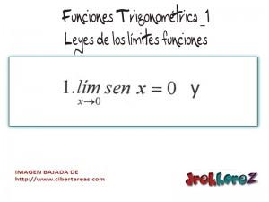 Funciones Trigonométricas- Leyes de los Límites Funciones 1