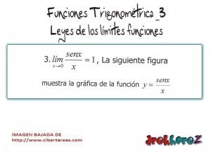 Funciones Trigonométricas- Leyes de los Límites Funciones 3