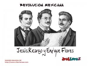 Jesús,Ricardo y Enrique Flores Magón-Revolución Mexicana 0