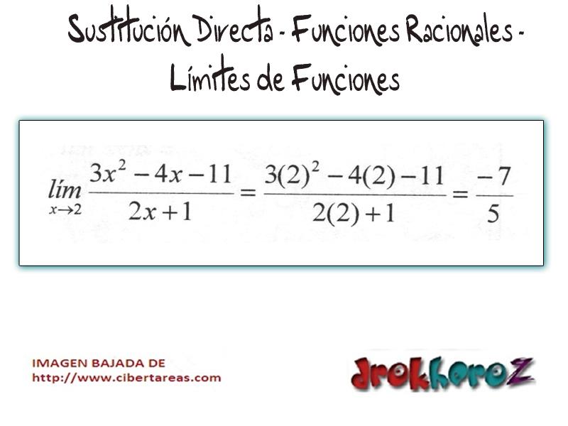 Sustitucion Directa-Funciones Racionales-Limites de Funciones ...