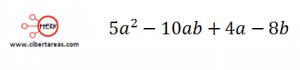 Factorización Factor común por agrupación de términos – Matemáticas 1 6