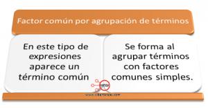 Factorización Factor común por agrupación de términos – Matemáticas 1 0