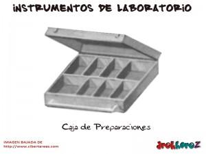 Caja de Preparaciones-Instrumentos de Laboratorio