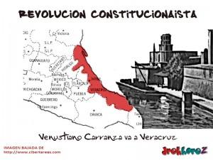 Venustiano carranza va a Veracruz-Revolucion Constitucionalista