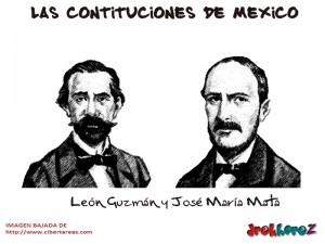 Leon Guzman y Jose Maria Mata-Las Constituciones de Mexico