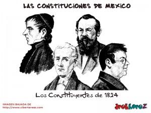 Los Constituyentes de 1824-Las Constituciones de Mexico