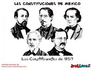 Los Constituyentes de 1857-Las Constituciones de Mexico