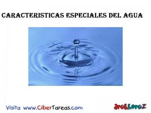Caracteristicas Especiales del Agua-Biologia 1