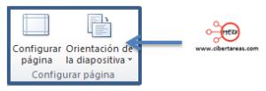 configurar pagina diapositivas powerpoint 2010 orientacion diapositiva