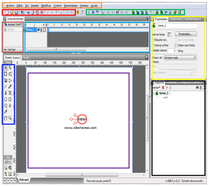 elementos de la pantalla principal swishmax