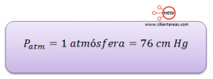 formula presion atmosferica