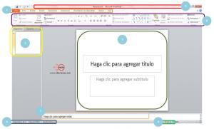 pantalla principal powerpoint 2010