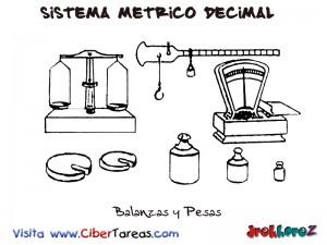 Balanzas y Pesas-Sistema Metrico Decimal