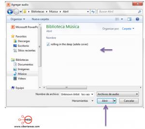 Insertar musica de fondo sin interrupciones en PowerPoint 2010  2