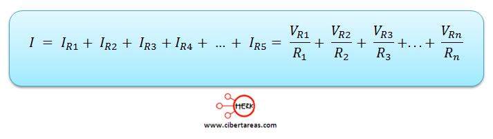 conexion de resistores en paralelo formula