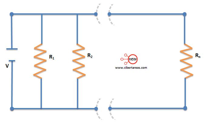 conexion de resistores en paralelo