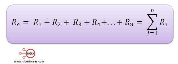 conexion de resistores en serie formula general