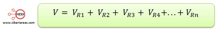 conexion de resistores en serie formula
