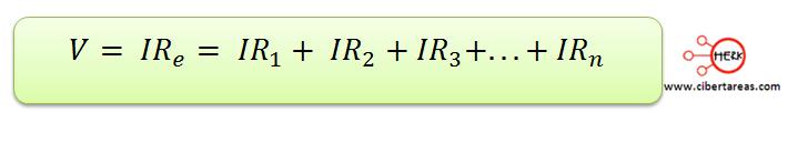 conexion de resistores en serie la formula