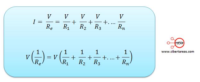 formula conexion de resistores en paralelo