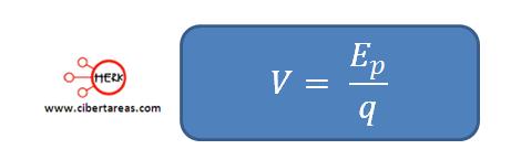 formula de potencial electrico