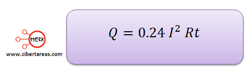 formula del efecto joule