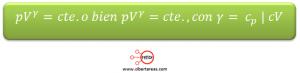 formula proceso adiabatico
