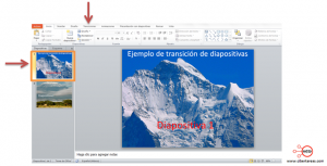 insertar transiciones en powerpoint 2010