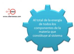 mapa conceptal energia interna en los sistemas termodinamicos