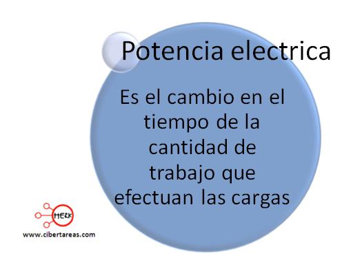 mapa conceptual potencia electrica