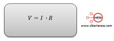 potencia electrica formula v=I.R