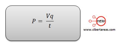 potencia electrica formula