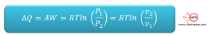 proceso isotermico formula