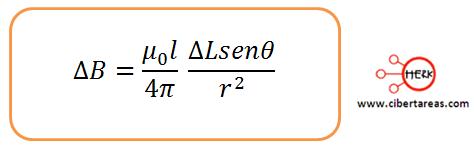 formula ley de bio-savart