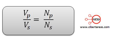 transformador de subida y bajada formula