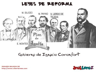 Gobierno de Ignacio Comonfort-Leyes de Reforma