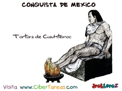 Tortura de Cuauhtemoc-Conquista de Mexico