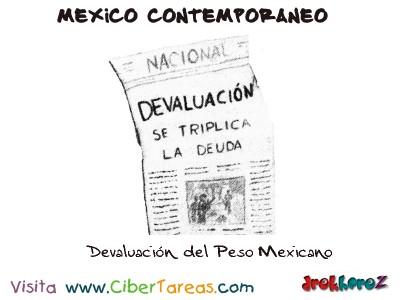 Devaluacion del Peso Mexicano-Mexico Contemporaneo