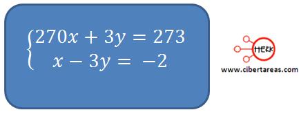 metodo algebraico de suma y resta