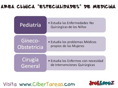Area Clinica Especialidades en Medicina _Ciencias de la Salud