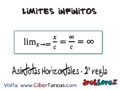 Asindotas Horizontales 2 regla_Limites Infinitos-Calculo Diferencial
