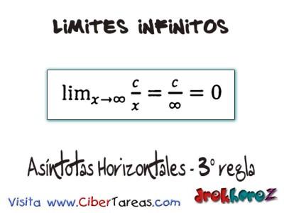 Asindotas Horizontales 3 regla_Limites Infinitos-Calculo Diferencial