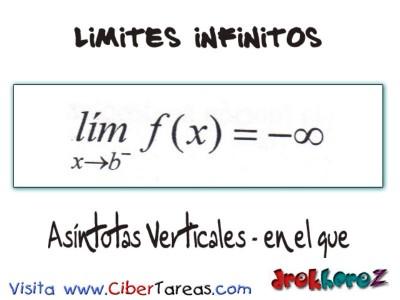 Asindotas Verticales en el que_Limites Infinitos-Calculo Diferencial