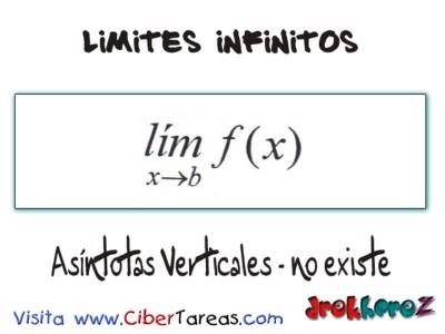 Asindotas Verticales no existe_Limites Infinitos-Calculo Diferencial